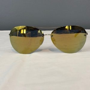 Cole Haan Sunglasses CH7033 (700) Gold Flash